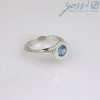 Graceful Sterling Silver Blue Topaz Ring 2