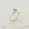 Simple Blue Topaz Ring 1