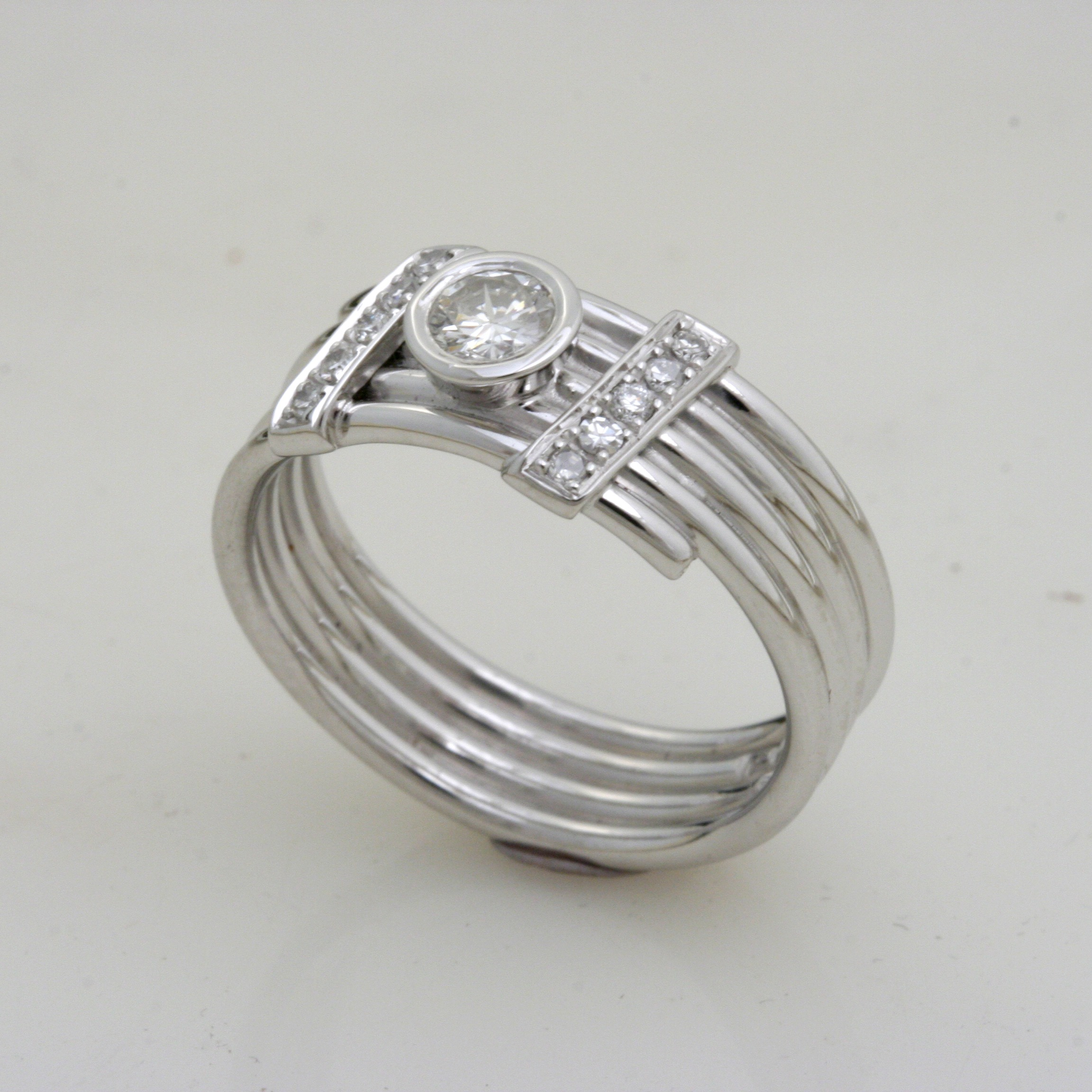 Coiled Diamond Engagement Ring 4