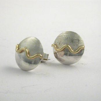 Creativity Wave Stud Earrings