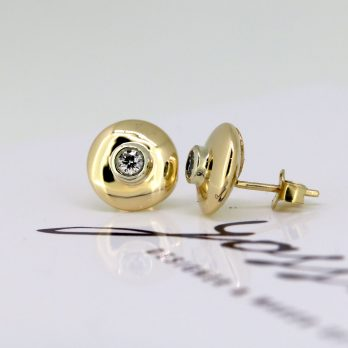 Glowing Diamond Stud Earrings
