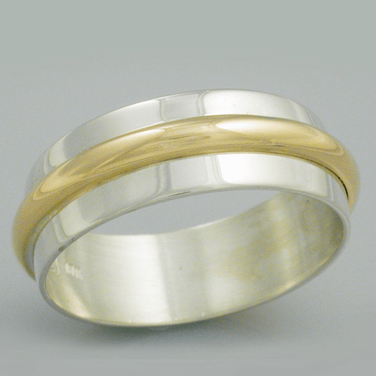 Striking Gold and Silver Wedding Band 3